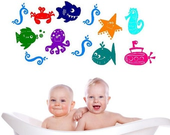 Under the Sea Vinyl Wall Decal Set