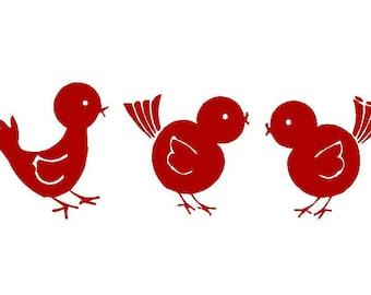 Three little birds vinyl decal set