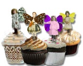 Winged Children - Digital Collage Sheet - INSTANT download - Reverse images to make great mobiles and cupcake toppers