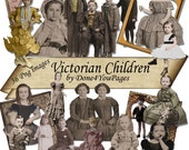 Victorian Children - 36 PNG Images Digital Download - for ACEO, Tags, Collage Art, and More