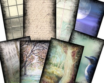Background Set 1 for ACEO Cards Collage Altered Art - Digital Image Sheet - Printable Download  - JPG
