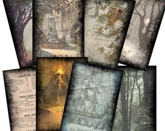 Background Set 2 for ACEO Cards Collage Altered Art - Digital Image Sheet - Printable Download  - JPG