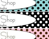 Basic Premade Etsy Shop Banner and Avatar Set - Small Boutique Polka Dots - 7 Color Schemes Available