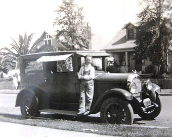 "Vintage Smiling Boy Photo Eye Glasses ""Arms Crossed"" Side Board Pose 1920s"
