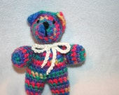 Baby Bear Toy, Hand Crocheted, Perfect for Baby Shower Gift, Gift Tag, Baby's First Ornament, Ready to Ship