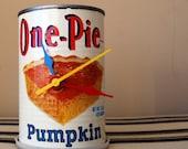 One Pie Pumpkin Clock