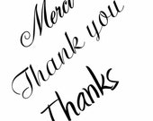 Thanks, thank you , merci clear stamps