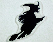 Witch Silhouette clear art stamp