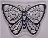 Stain Glass Butterfly clear stamp
