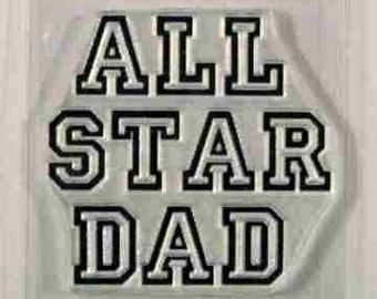 All Star Dad clear stamp