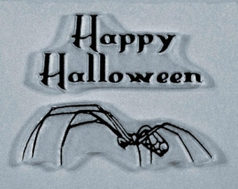Halloween Spider clear stamps