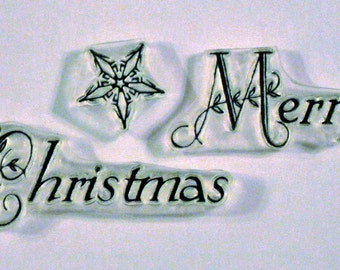 Merry Christmas clear stamp