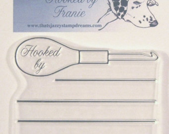 Hooked by Franie Journal Block clear rubber stamp