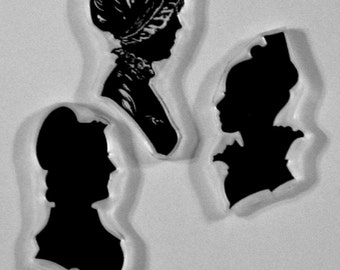 Alura's Stamps for the Displaced Victorian The Ladies of Ipswich clear stamp silhouettes