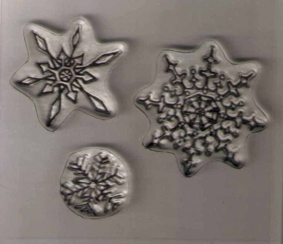 Three Flakes clear stamps
