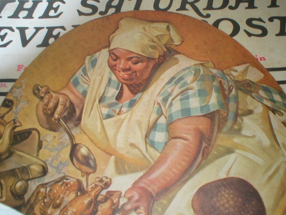Saturday Evening Post November 1936 Mammy Thanksgiving  Leyendecker Cover