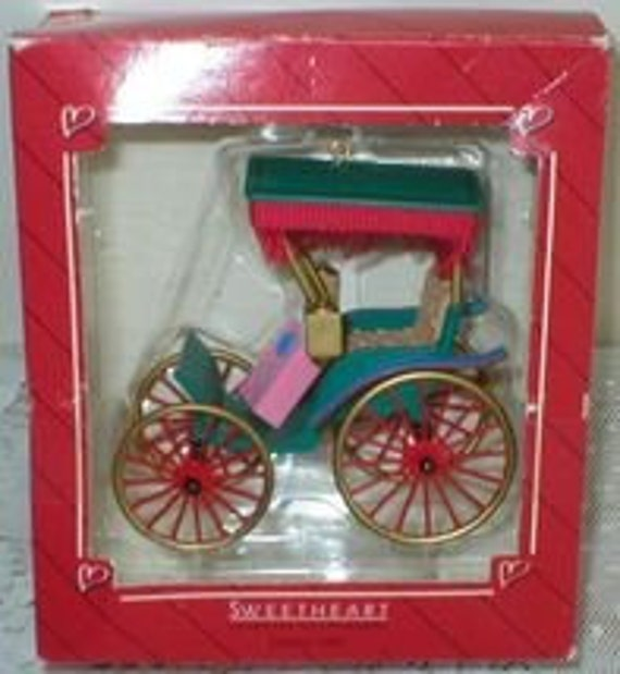 Christmas Ornament Hallmark Keepsake Vintage Surrey Carriage with the Fringe on Top 1987
