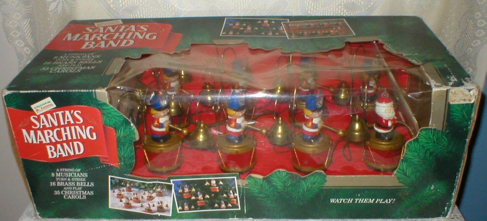 Mr Christmas Santa Marching Band Animated Musical Bells