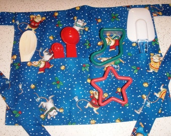 Jingle Bells Mice Christmas Apron for Kids with Extra Goodies