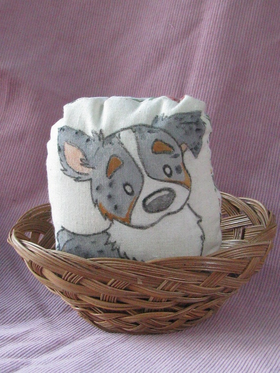 Australian Shepherd Puppy in a Basket + Custom Order...reserved for mpemig
