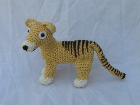 Made to order - Thylacine or Tasmanian Tiger Plush - reserved for happythings