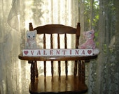 Baby Name Blocks Valentina Rose Pink free shipping in USA choose any 2 symbols included with set baby shower  holiday gift