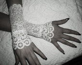 The SNOW WOLF white french lace cuffs white lace gloves wedding gloves white lace cuffs white lace gloves bridal gloves for bride