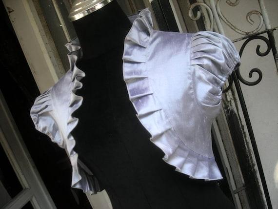 ON SALE Sweet  Dream silver dupioni silk bridal bolero jacket bolero shrug wedding bolero wedding shrug silver bolero bridesmaids bolero