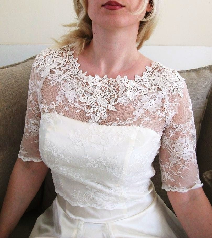 New Lace Trim Kiss Me In Bariloche Bridal Lace Blouse Limited