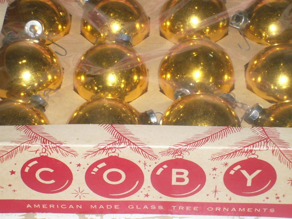 Coby Glass Christmas Tree Ornaments : Vintage glass coby christmas ornaments