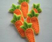 DOUBLE LAYERS Carrot Felt Applique (set of 4 pcs)