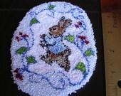Rabbit Punch Needle Dollhouse Rug