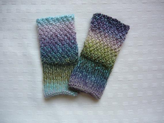 Watercolor Fingerless mitts