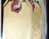 Set of 10 Small Blank Prim Hang Tags