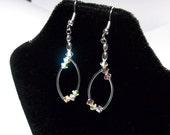 Swarovski Crystal Earrings Silver Hoop Jewelry