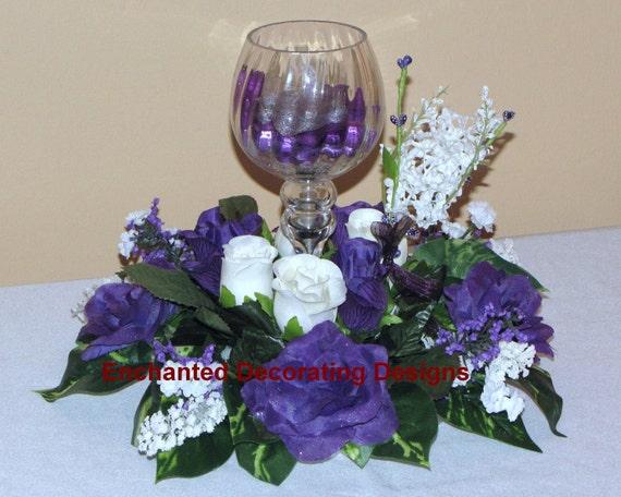 Wedding centerpiece Flower Rose Candle Holder Decoration Floral Centerpiece silk flower arrangement flower decoration