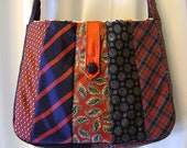 Tramps Like Us - Recycled Necktie Messenger Bag