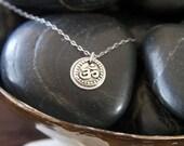 OM SHANTI - Yoga Inspired Sterling Silver Pendant