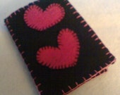 Black and Hot Pink Heart Needle Book