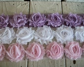 Shabby Chic Rose Trim- MINI Solids 1/2 yards-YOUR CHOICE of 3
