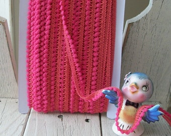 MIni Ball Trim in Rose 3 yards for 1.99