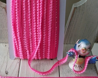 Mini Ball Trim in BRIGHT PINK-3 yards for 1.99