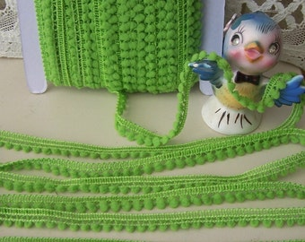 Mini Ball Trim in Apple Green 3 yards for 1.99