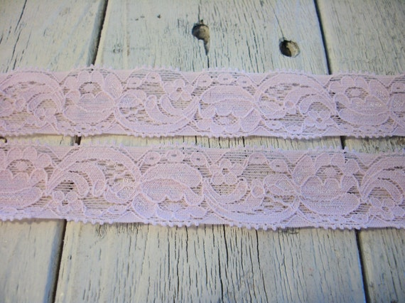 Stretch Lace-PALE PINK -1 inch -10 yards for 5.50