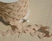 "Oatmeal Cream Rick Rack - Jumbo Cotton - Sewing Ric Rac Trim - 11/16"" - 3 Yards"
