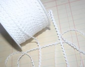 "WHITE Mini Rick Rack - Crafting Sewing Ric Rac Trim - 11/64"" Wide - 10 Yards"