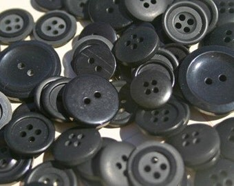 Black Buttons - Sewing Bulk Buttons - Black Eyes Button - 120 Buttons - Coraline