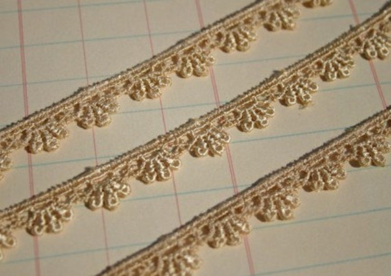 Champagne Venise Lace Trim - Sewing Embellishments - 5 Yards - LAST OF SPOOL
