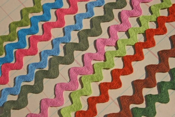 Rick Rack Ric Rac Vintage Assorted Pack - Sewing Embellishments - 1/2 Inch - 10 Yards