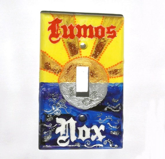 Lumos and Nox Lightswitch Plate